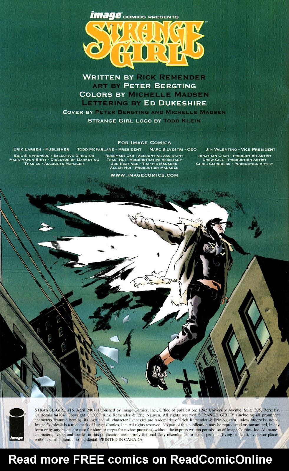 Strange Girl Issue #16 #17 - English 2