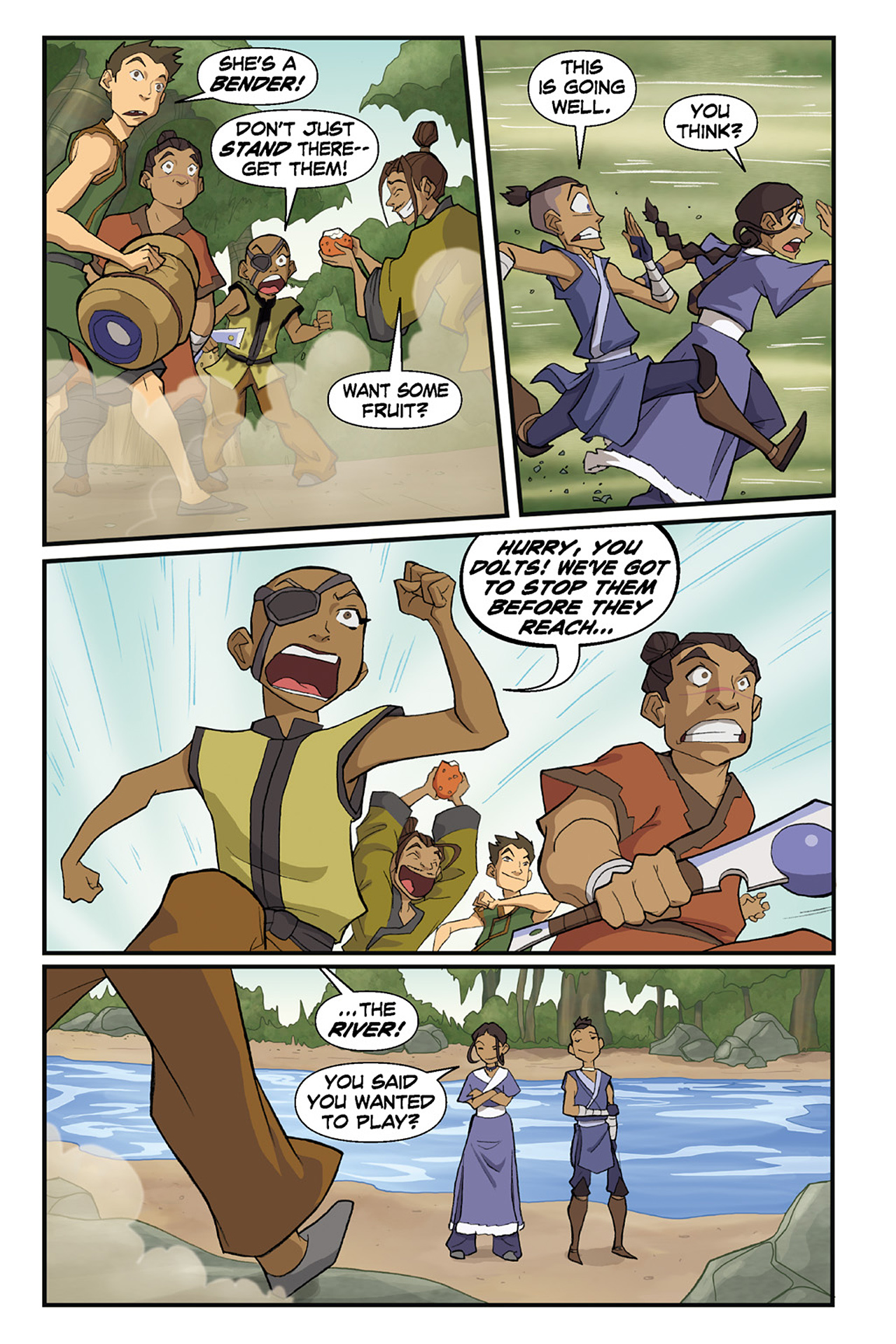 Nickelodeon Avatar: The Last Airbender - The Lost Adventures chap full pic 69