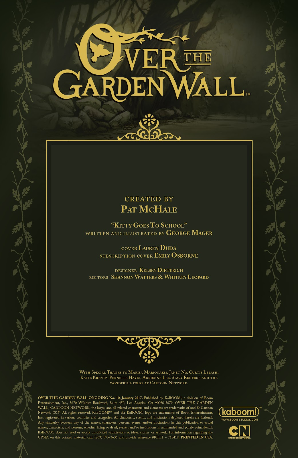 Over the Garden Wall (2016) Issue #10 #10 - English 2