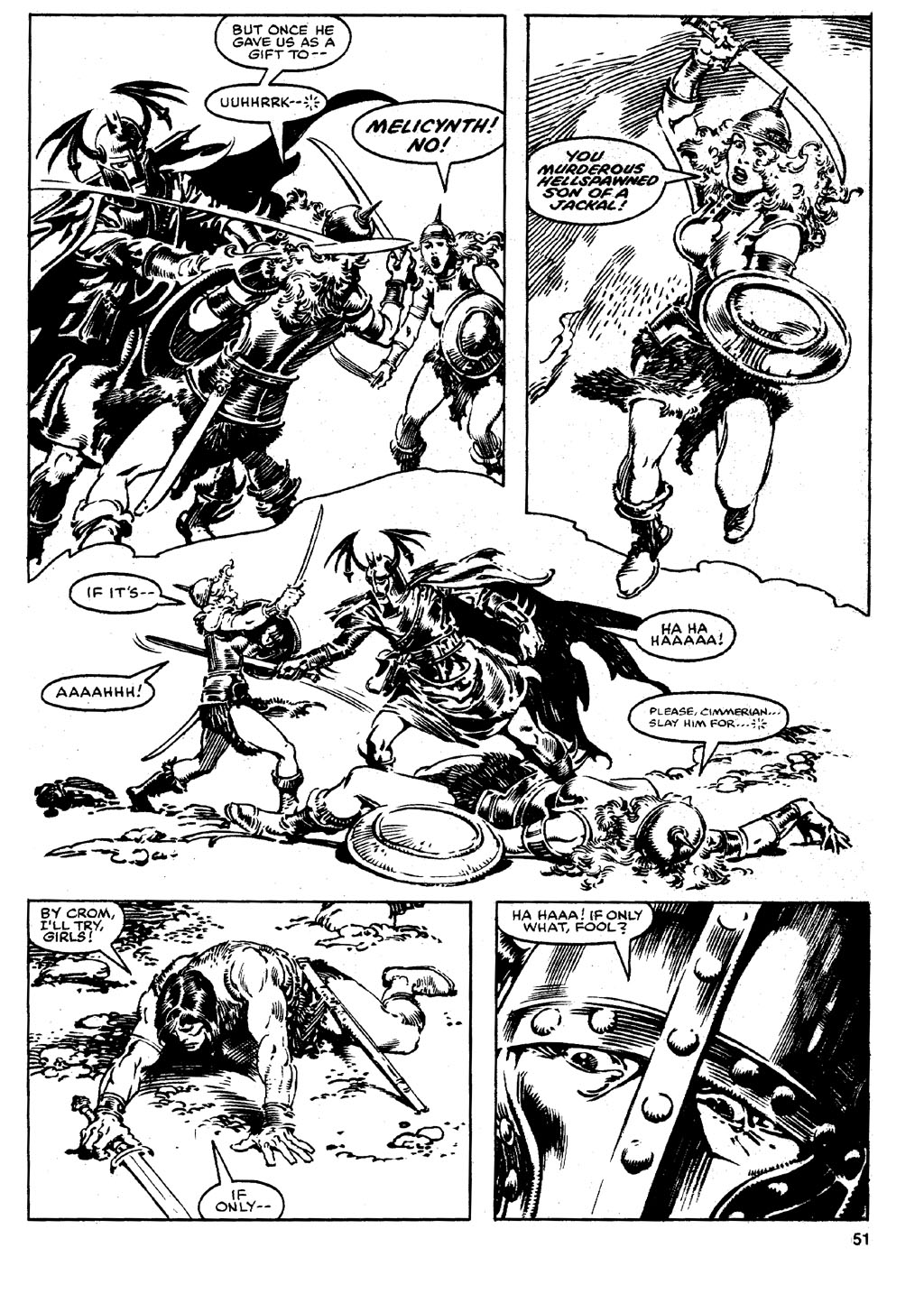 The Savage Sword Of Conan Issue #90 #91 - English 50