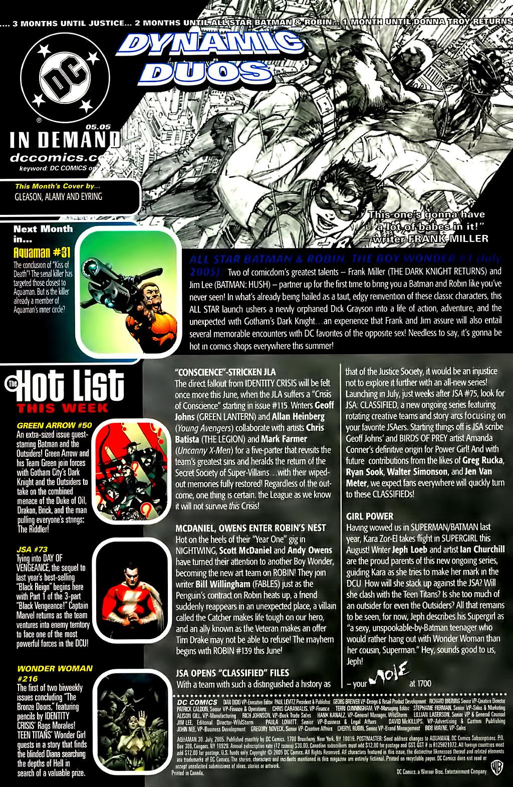 Aquaman (2003) Issue #30 #30 - English 24