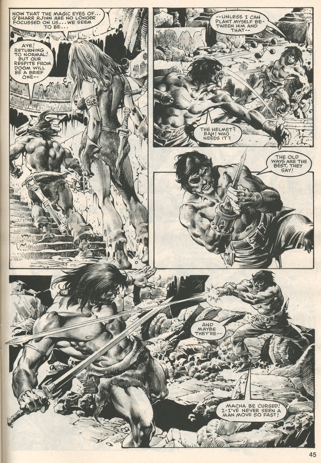 The Savage Sword Of Conan Issue #107 #108 - English 45