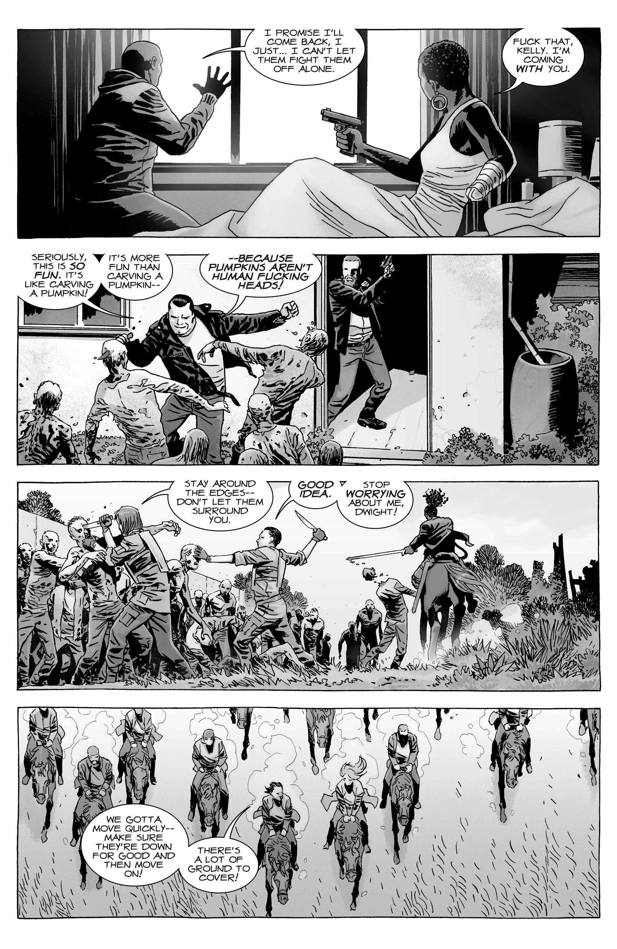 Wa walking dead pumpkin stencil -  The Walking Dead 165 Page 5