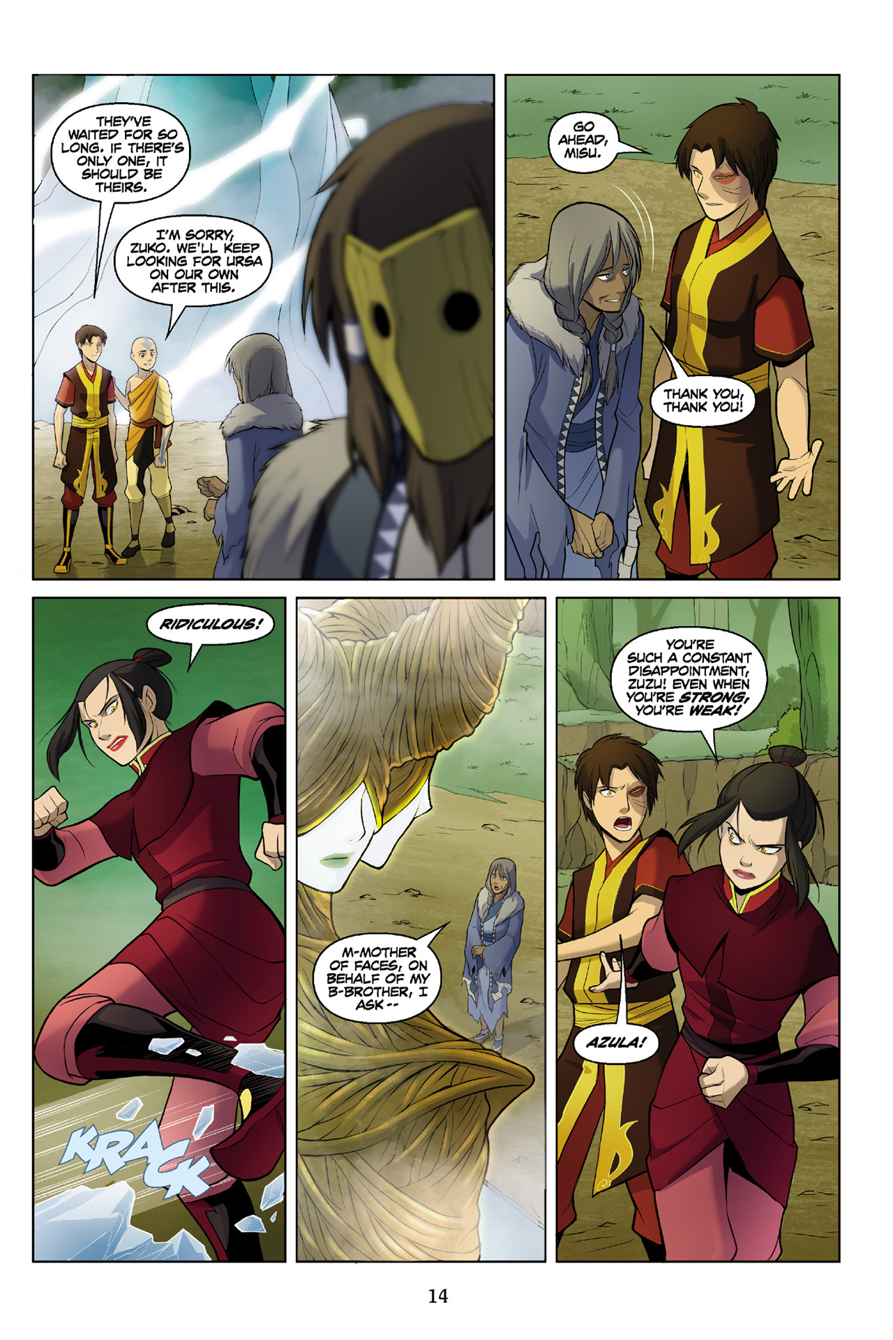 Read online Nickelodeon Avatar: The Last Airbender - The Search comic -  Issue # Part 3 - 15