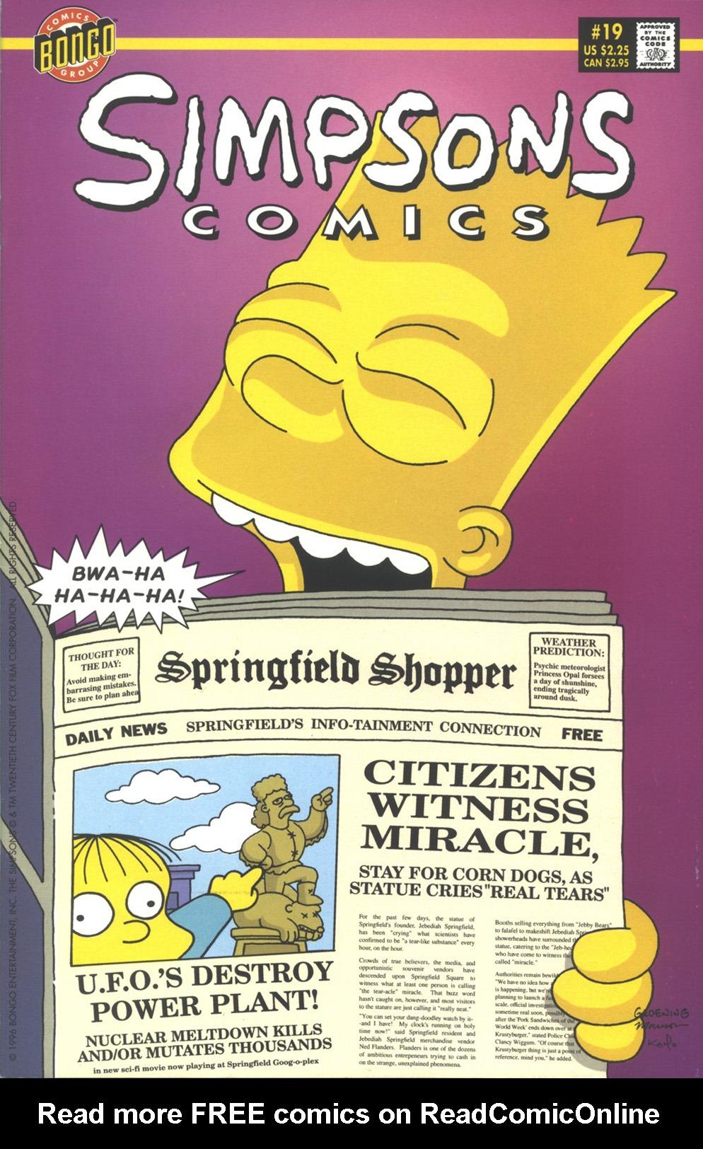 Read online Simpsons Comics comic -  Issue #19 - 1