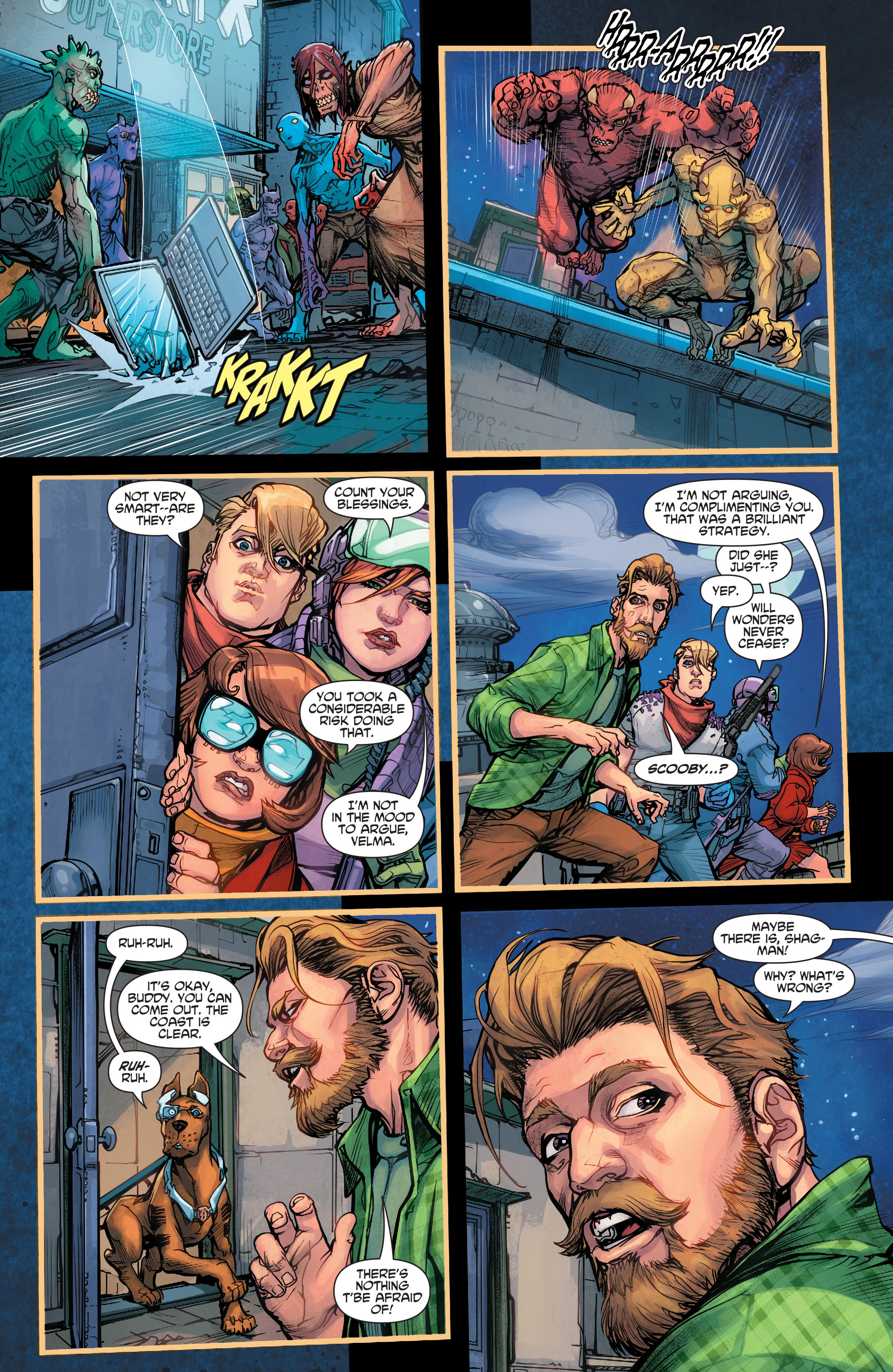 Read online Scooby Apocalypse comic -  Issue #7 - 8