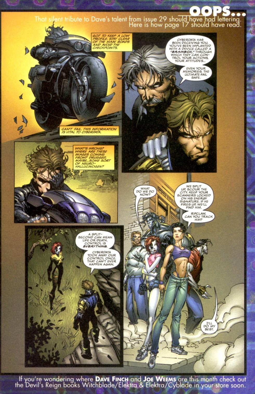 Cyberforce (1993) 30 Page 1