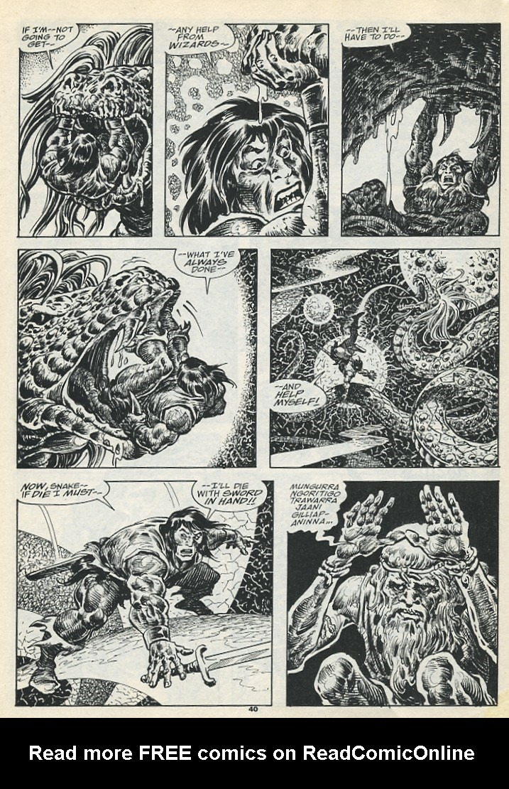 The Savage Sword Of Conan Issue #193 #194 - English 42