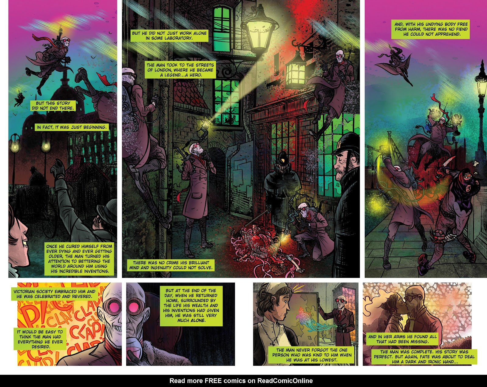 Read online Sherlock Frankenstein and the Legion of Evil comic -  Issue #4 - 4