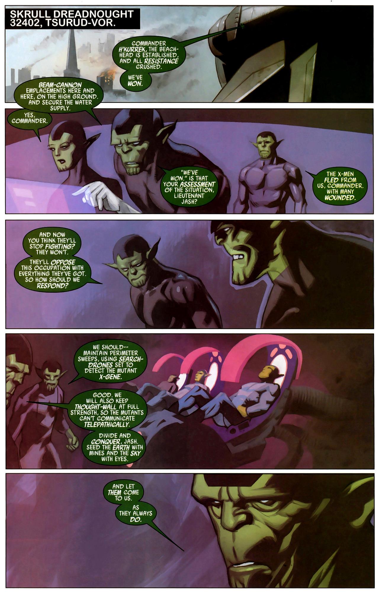Read online Secret Invasion: X-Men comic -  Issue #2 - 6