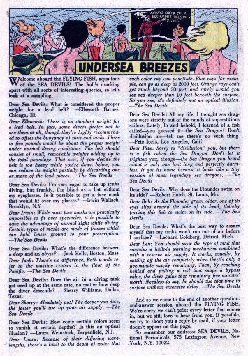 Read online Sea Devils comic -  Issue #30 - 25