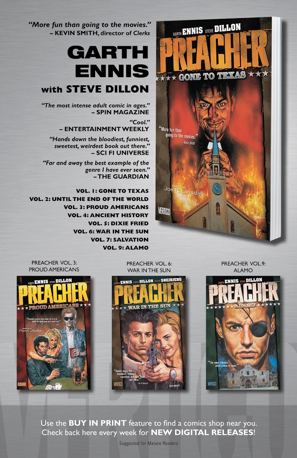 Preacher Issue #52 #61 - English 25