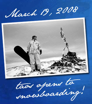 Taos Opens to Snowboarding