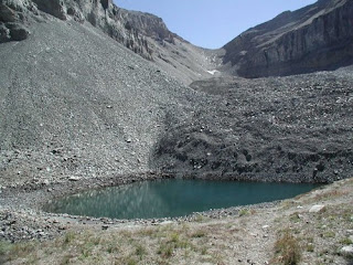 Timp Glacier in 2004 when it dried up