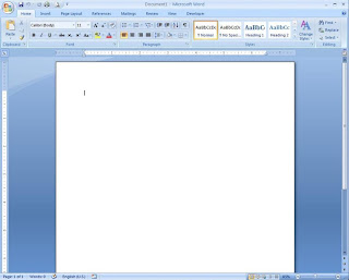 pagina prinsipal de word