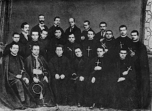 Don Bosco with the third group of Salesian Missionaries