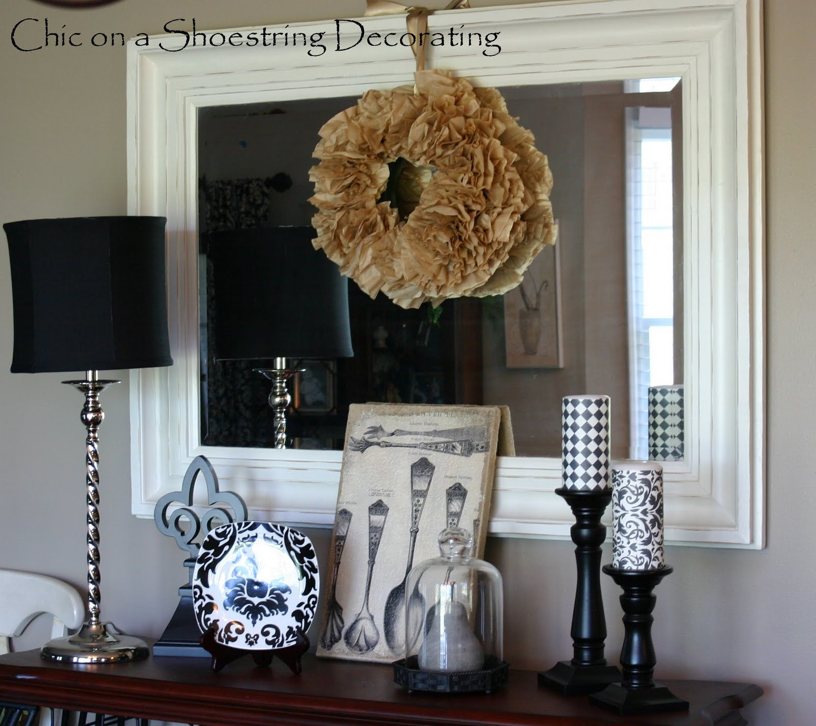 chic on a shoestring decorating black off white and