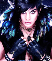 Adam Lambert Lee Cherry Frontiers feathers text-free photo
