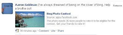 Please vote for my picture in the Bing Photo Content on Facebook
