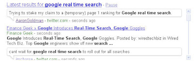 Google Real-Time Search