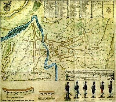 Mapa de Vila Boa (Cidade de Goiás) - 1782