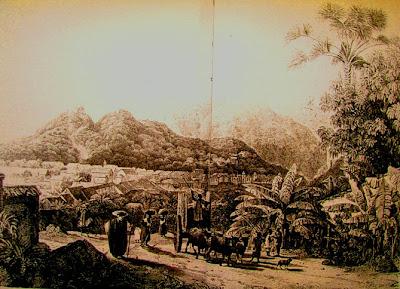 Vista da cidade de Goiás - Thomas Ender - 1819