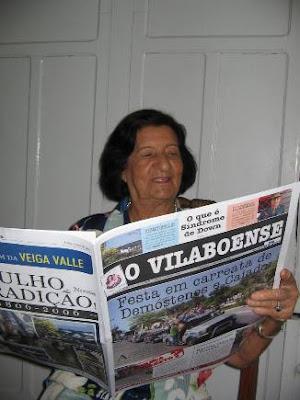 Goiandira do Couto lendo o Vilaboense