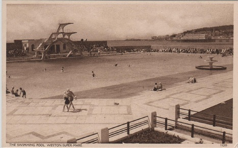 Sepia Saturday Weston Super Mare Vintage Postcards