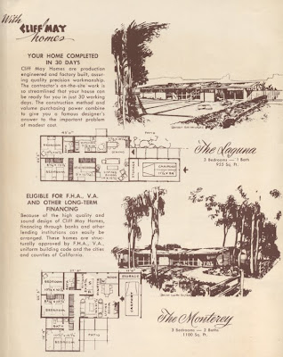 Claremont Modernism Cliff May Homes Brochure: cliff may house plans