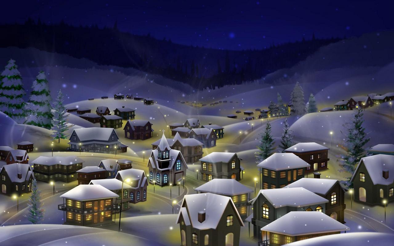"""Скачать обои на Новый Год  """"Зимние пейзажи, снег """" ."""