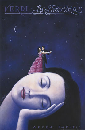 La Traviata (Post Modern Painting) - Rafal Olbinski