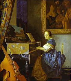 Lady sit At the Virginal -- Vermeer