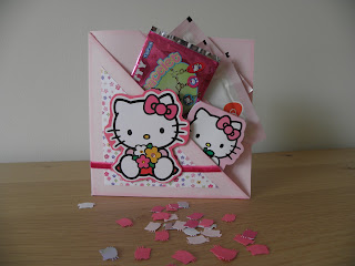 Card with goodies