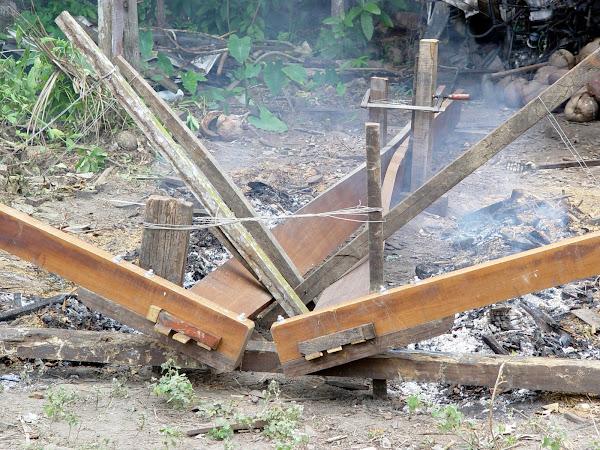 Firebending the planks :