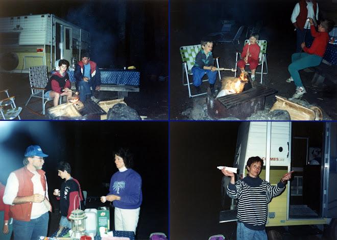 Camping avec Pat, Lee, Joel et Evan