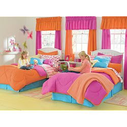 She originally saw this dot bedding from PB Teen, but it was way out of the ...