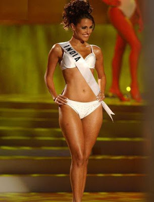 Neha Dhupia at Miss Universe 2002