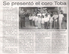 Se present el coro Toba