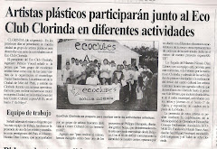 Artistas plásticos participarán junto al Ecoclub Clorinda en diferentes actividades