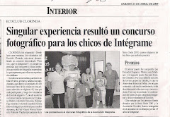 Singular experiencia result un concurso fotogrfico para los chicos de Integrame