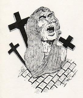 dessin - allégorie de la souffrance