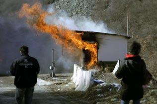Kosovo, poste-frontière en feu le 19 février 2008