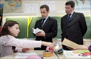 Nicolas Sarkozy le 15 février 2008 à Périgueux