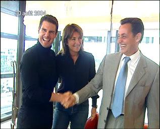 Tom Cruise, Cécilia Sarkozy et Nicolas Sarkozy