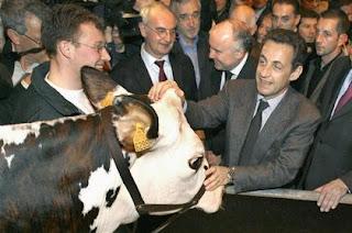 Nicolas Sarkozy au Salon de l'agriculture, février 2008
