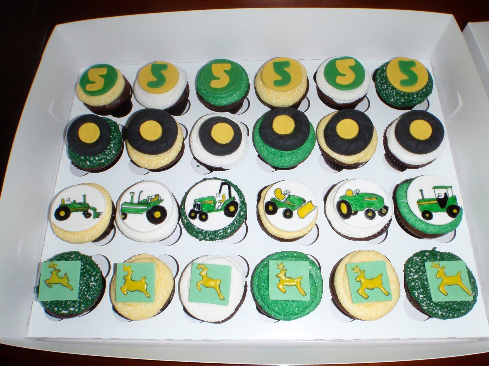 Oh Cupcakes John Deere Tractors