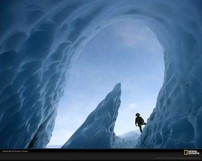 Matanuska Glacier Cave, Alaska Free Wall Paper