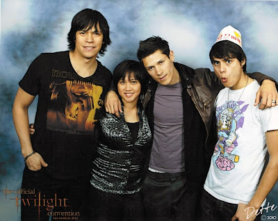 Dette and Chaske Spencer, Alex Meraz and Kiowa Gordon at  the 2010 Los Angeles Twilight Convention