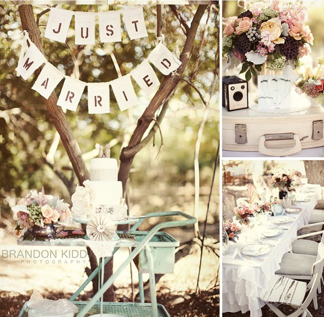 cute vintage wedding decor
