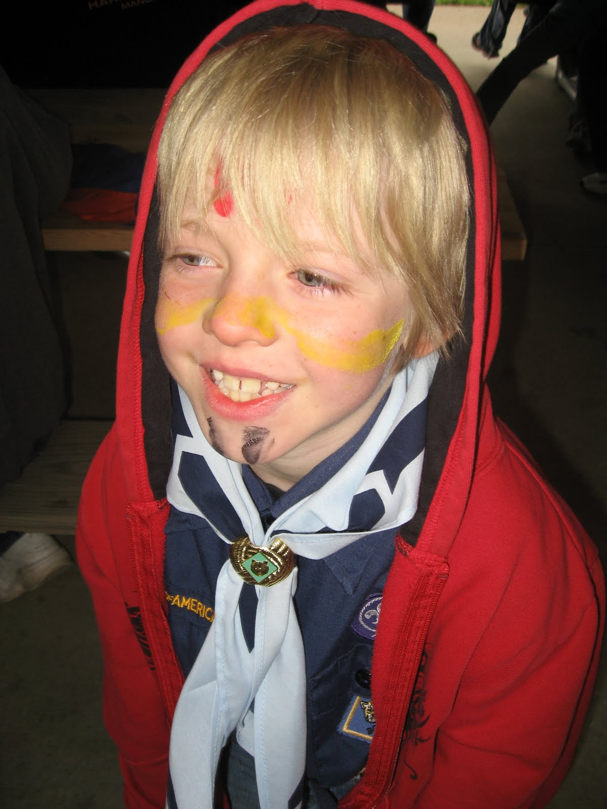 Cub Scout Arrow Of Light Face Painting